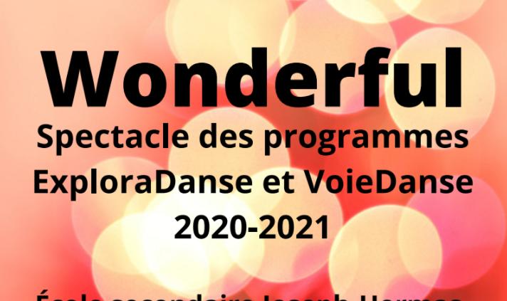 Spectacle en ligne des élèves des programmes ExploraDanse et Voie Danse et de la danse en parascolaire